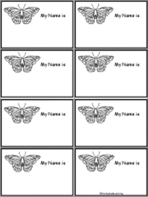 printable butterfly name tags butterfly nametags at enchantedlearning com