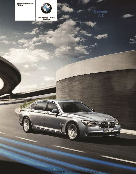 Pahe F03 Series 2011 bmw active hybrid 7 f01 f02 f03 f04 series owners manual