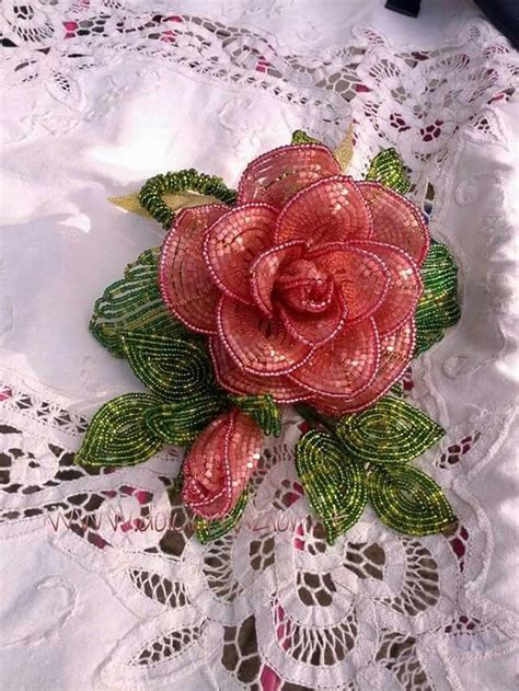 fiori fatti con perline beaded flowers fiori di perline evita corazon de
