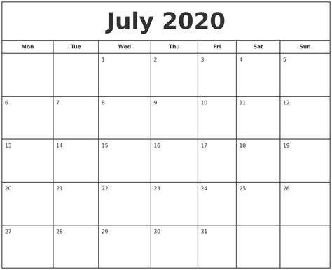 free printable calendar free printable calendar july july 2020 print free calendar