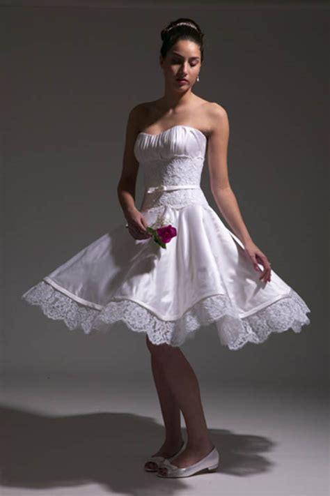 informal embroidered short wedding dress sang maestro
