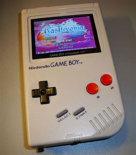 gameboy colour mod game boy mod features a game boy advance inside