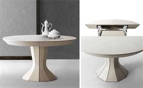 Round Expanding Dining Table Round Expandable Dining Table Modern Opera By Bauline