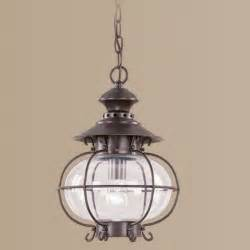 Nautical Outdoor Light Fixtures Livex 1 Light Nautical Outdoor Pendant Lighting Fixture Bronze Clear Glass Ebay