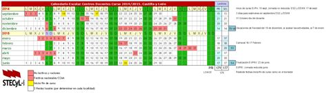 Calendario Escolar Madrid 2014 15 Pdf Calendario Escolar Curso Acad 233 Mico 2014 2015 Stacyl