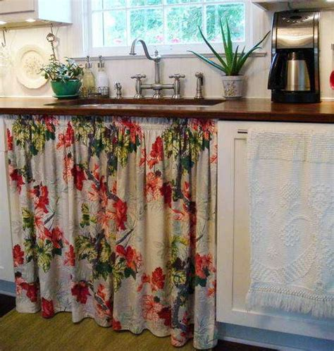 Vintage Kitchen Curtains Vintage Kitchen Sink And Curtain My Retro Caravan Kitchen Diner