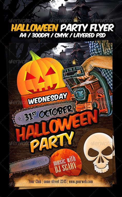 flyer templates halloween party halloween party flyer template by dodimir graphicriver
