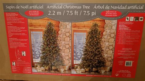costco 7 5 artificial pre lit christmas tree unboxing and