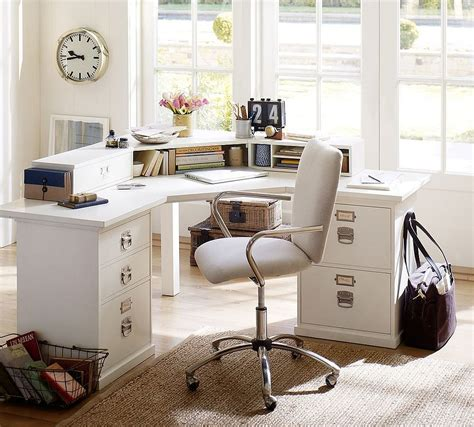 pottery barn home 20 ways to decorate home office in white