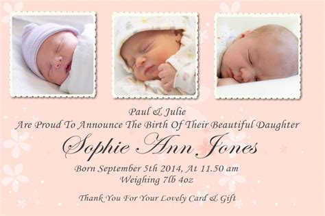 baby announcement with baby announcement cards bespoke delights