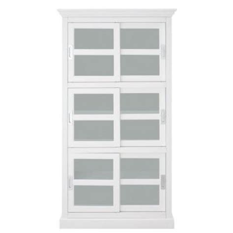 Bookcase With Glass Doors White Home Decorators Collection 3 Shelf Bookcase With Glass Doors In White 8058800810 The