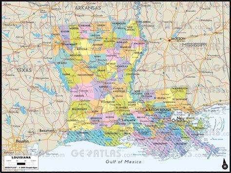 louisiana map atlas geoatlas united states canada louisiana map city