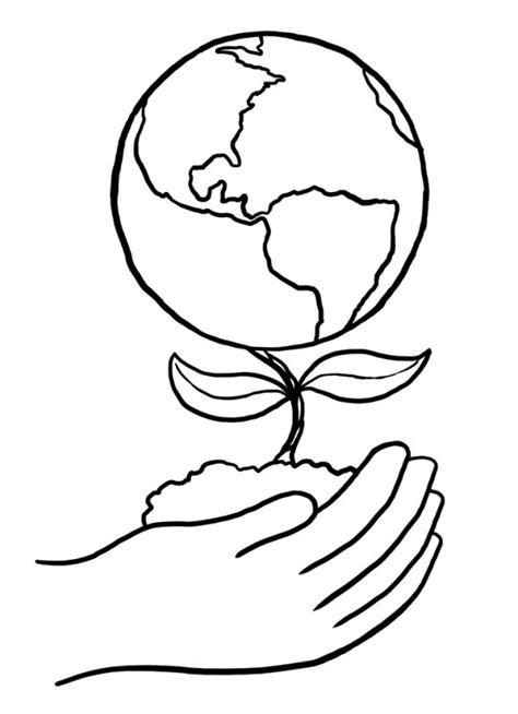 dibujo alusido del cuidado del medio ambiente im 225 genes del d 237 a de la tierra para pintar y colorear e