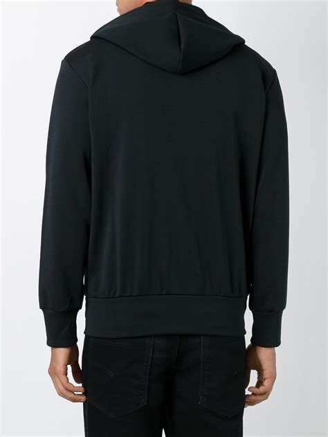 Hoodie Jacket With Zipper Tosca play comme des gar 231 ons comme des gar 231 ons play embroidered hoodie in black for lyst