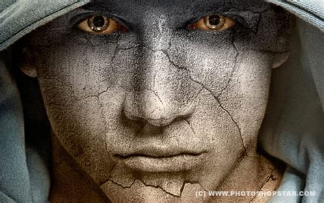 photoshop cs5 tutorial cracked face photo manipulation 20 brilliant exles of better effects using textures