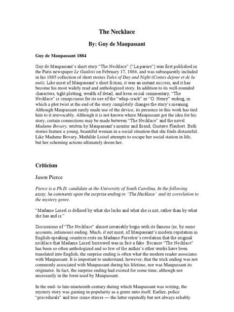 theme essay on the necklace essay on the necklace buy religious studies research