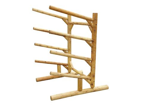 Place Rack by 4 Place Log Kayak Rack One Sided Log Kayak Or Sup Storage