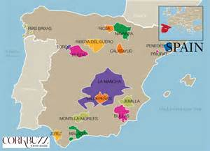 Spain Wine Map by Major Wine Region Maps Corkbuzz Wine Studio