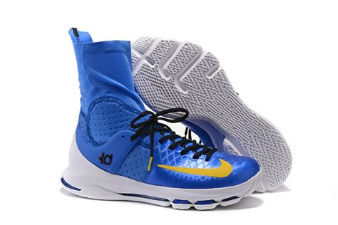 royal blue nike basketball shoes nike kd 8 elite royal blue yellow black pe men s