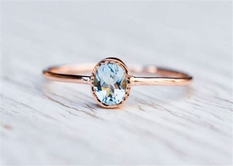 Verlobungsring Frau Gold by Aquamarine Engagement Ring In 14k Gold Gold