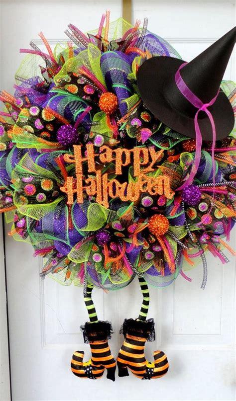 halloween wreath fun and creative diy halloween witch wreath ideas