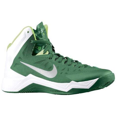 nike green and white basketball shoes nike zoom hyperquickness tb s basketball shoes 599420