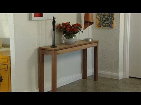How To Make A Hallway Table
