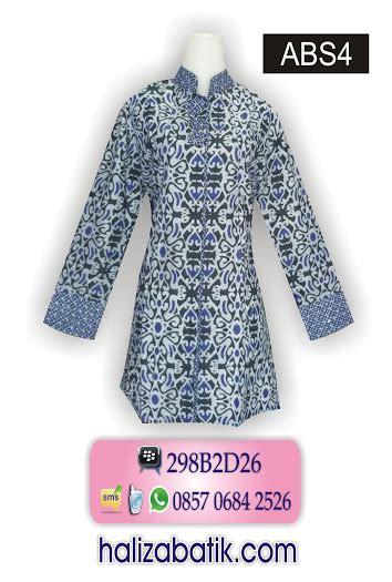 Baju Gamis Batik Pekalongan Wanita Motif Asmat Biru Busui blus batik muslim grosir batik gamis batik dress batik