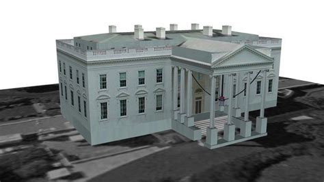 white house model sketchup 3d model 3d white house
