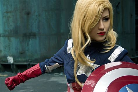 captain america girl wallpaper captain america female best of cosplay collection
