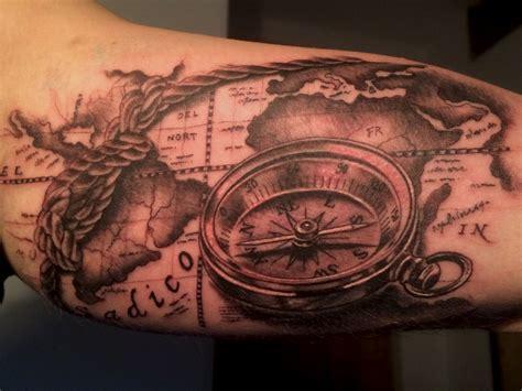 tattoo compass mit karte compass map tattoo some of my work pinterest