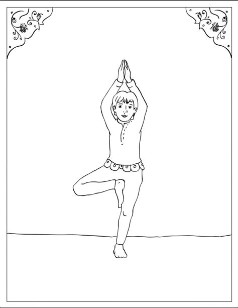 coloring pages for yoga storytime yoga 174 for kids asana coloring page tree pose