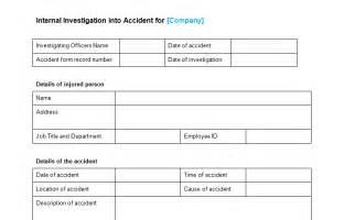 Investigation Template by Investigation Template Free Investigation Of