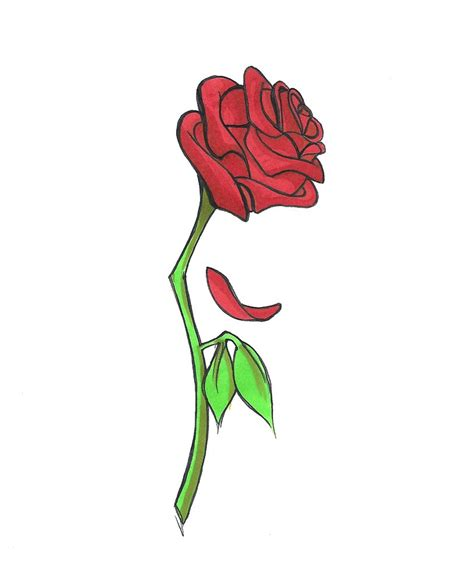cartoon rose tattoo pictures to pin on pinsdaddy