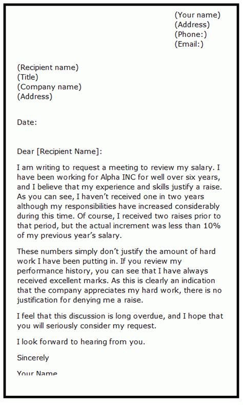 How To Ask For Salary Increase Sle Letter how to ask for a raise in writing sles howsto co