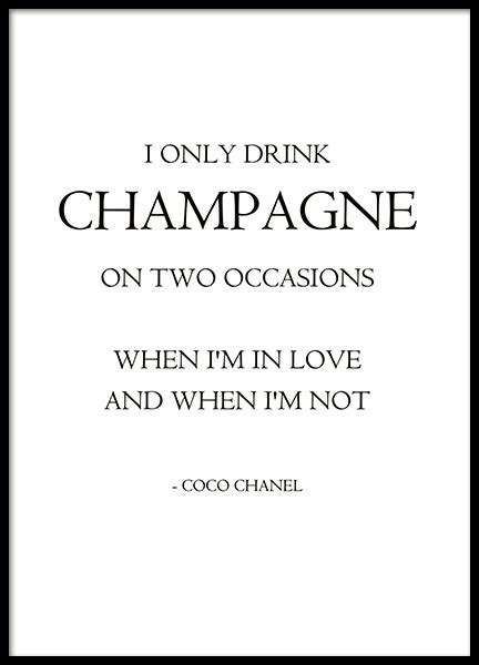 Zitate Coco Chanel by Fashion Poster Poster Mit Zitat Coco Chanel Mode