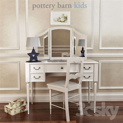 Pottery Barn Vanity Mirror by 3d Models Miscellaneous Pottery Barn Blythe Desk And