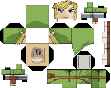 Papercraft Wii - link wii u demo by hollowkingking on deviantart