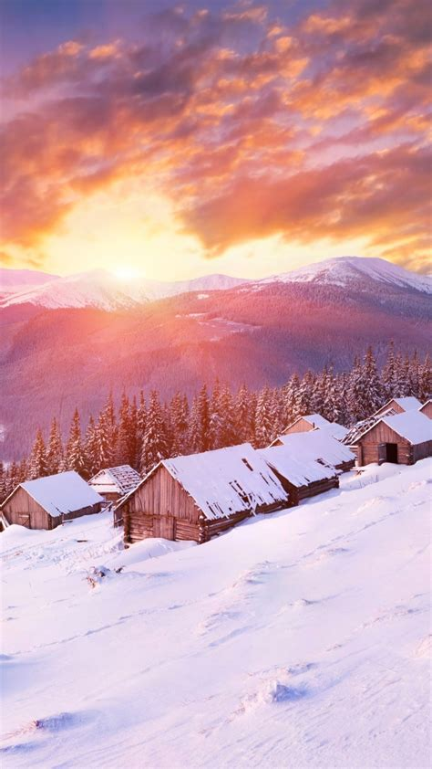 wallpaper mountains   wallpaper hills sunset snow