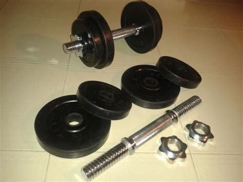 Jual Dumbbell Set Kettler Kettler Adjustable Dumbbell 10kg Set Rubber Coated Weight