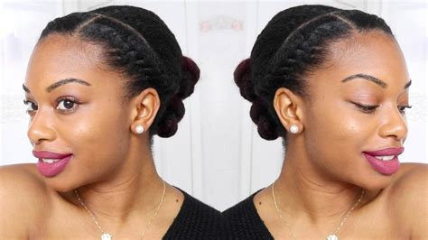 perfect protective style natural  relaxed hair