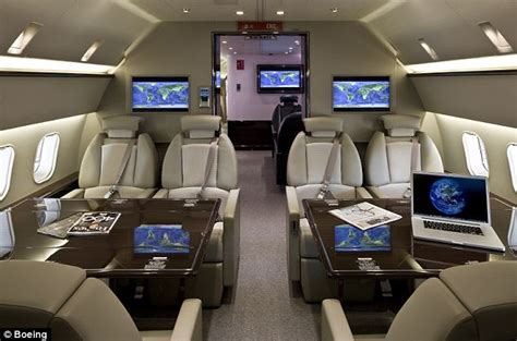 Boeing 747 Floor Plan by Inside A 80 Million Customized Boeing Business Jet Daily Mail Online