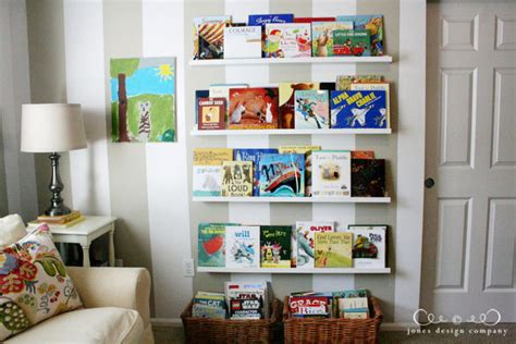 room to play book displaying books in the playroom jones design company