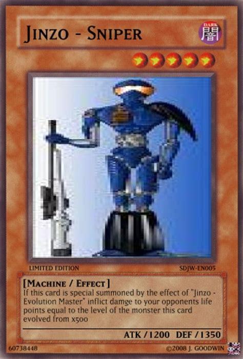 yu gi oh jinzo deck jinzo sniper yu gi oh card maker wiki cards decks