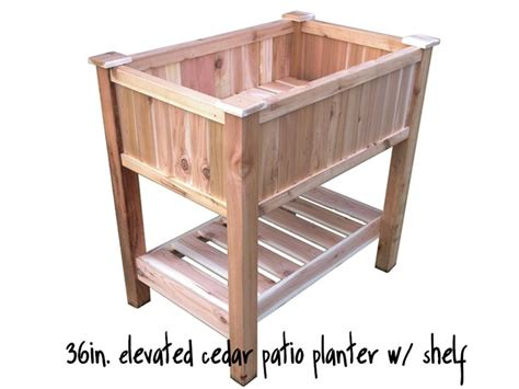 Build Your Own Planter Box by Make Your Own Cedar Planter Box Woodworking Projects Plans