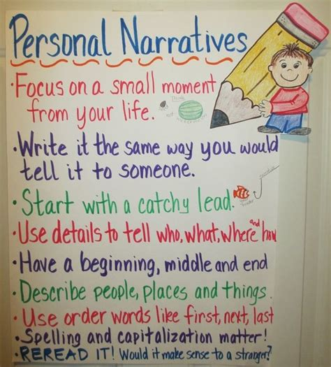 the personal of books unit 3 personal narrative hamilton s 4th grade website