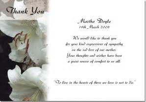 thank you card wedding thank you cards for funerals sympathy thank you cards funeral thank you