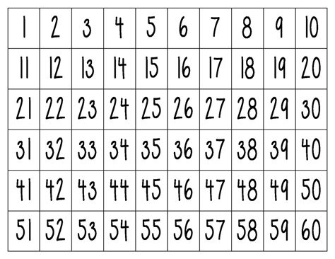 printable large numbers 1 25 new printable number chart downloadtarget