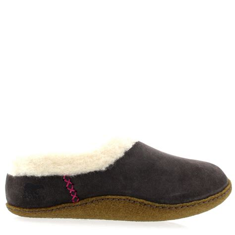 Womens Sorel Nakiska Winter Fur Lined Warm Suede House Shoes Slippers Uk 3 9