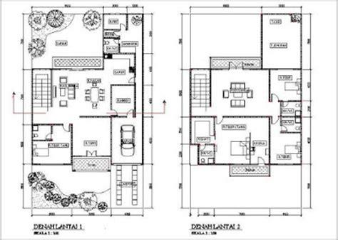 desain dan denah rumah minimalis ukuran 8 x 10 meter woods